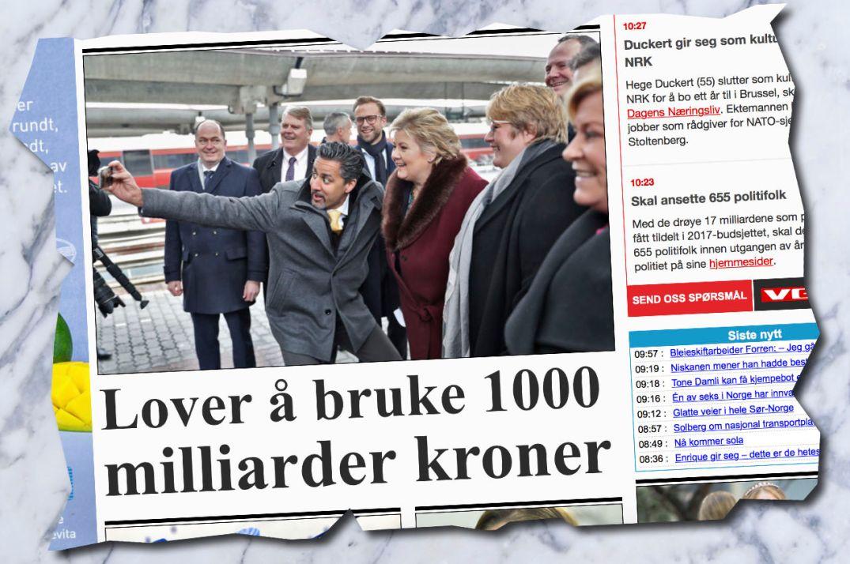 VALGÅR: Ærre her det er party? Faksimile fra VG Nett torsdag 2. mars 2017.