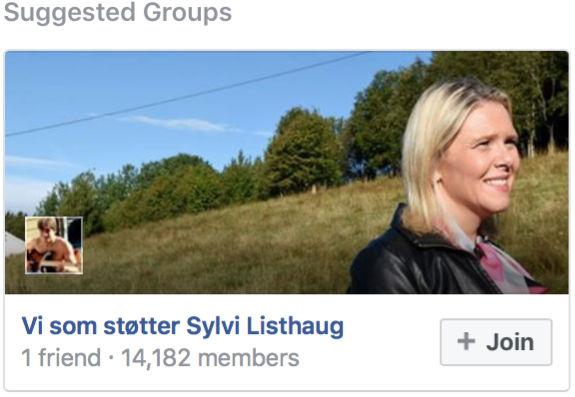 Facebook-forslag Sylvi Listhaug