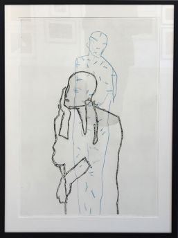 """Den andre"", etching, 66 x 100 centimetres, 2016. Terje Resell."