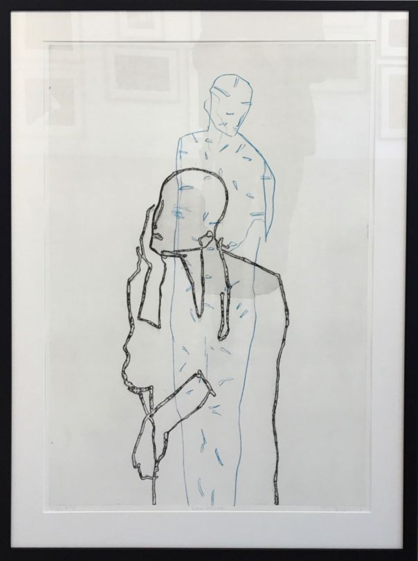 """""""Den andre"""", etching, 66 x 100 centimetres, 2016. Terje Resell."""