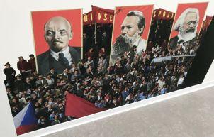 Lenin, Engels and Marx.