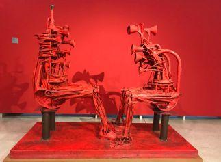"""Great Dialogue"" (1966), Karel Nepraš. Wire, textile, laminate, varnish."