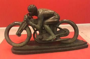 """""""Motorcyclist – Sunbeam"""" (1924), Otakar Švec. Bronze."""