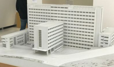 A model of the National gallery.
