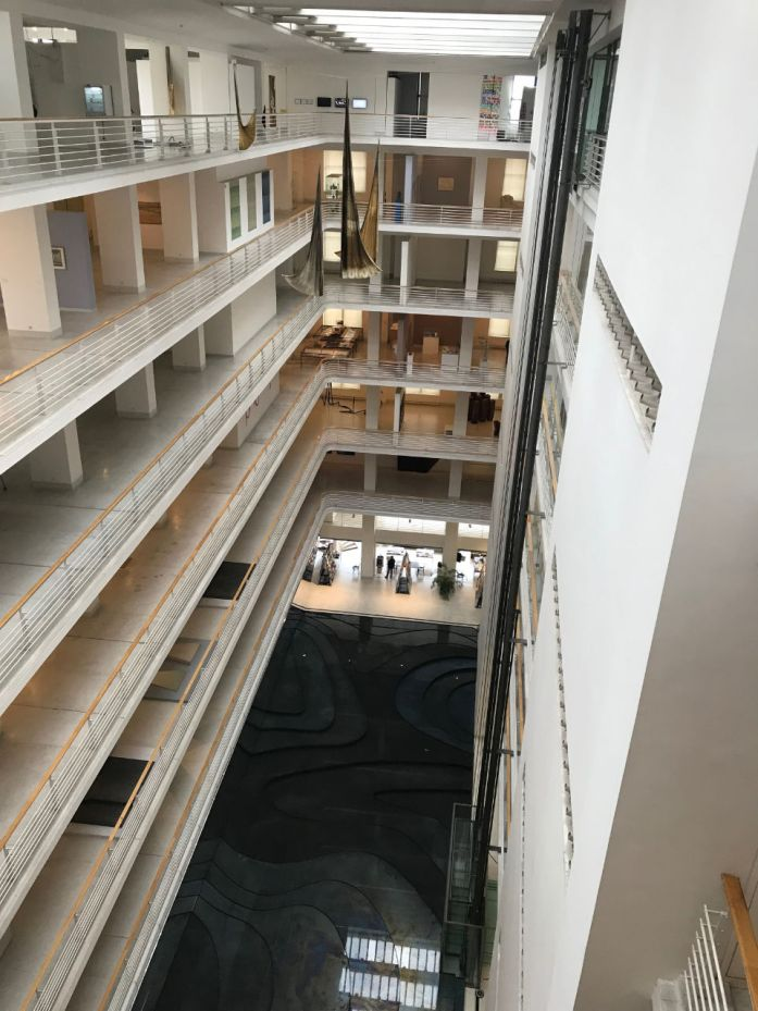 The atrium from above.