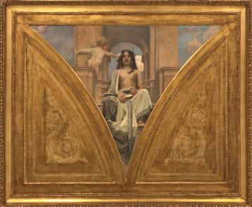 """""""Science"""" (decoration design for the Pantheon of the National Museum, 1899), Vojtěch Hynais. Oil on canvas."""