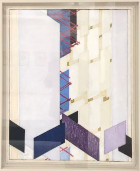 """Transverse Surfaces (Diagonal Planes: Vertical and Diagonal Planes)"" (1923), František Kupka. Oil on canvas. My apologies for reflections and skewed edges."